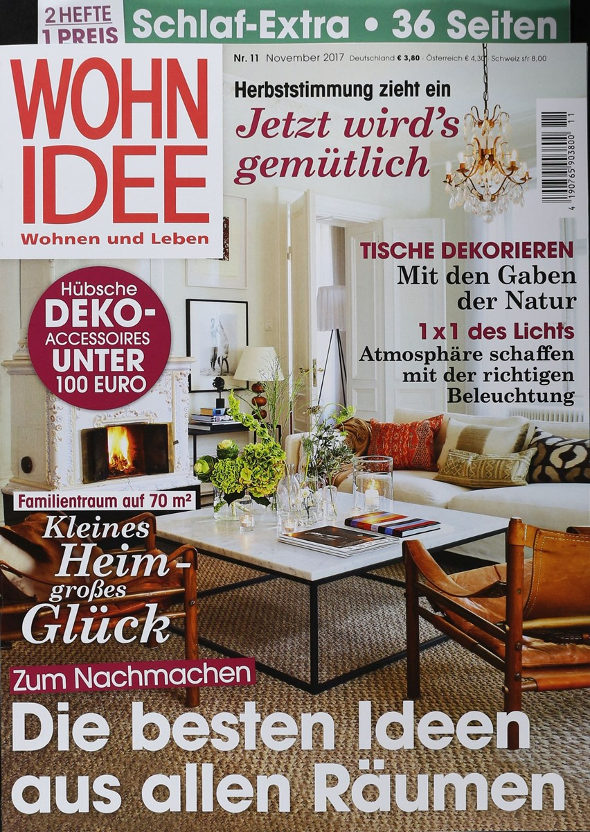 wohnidee 11 2017 zeitungen und zeitschriften online. Black Bedroom Furniture Sets. Home Design Ideas