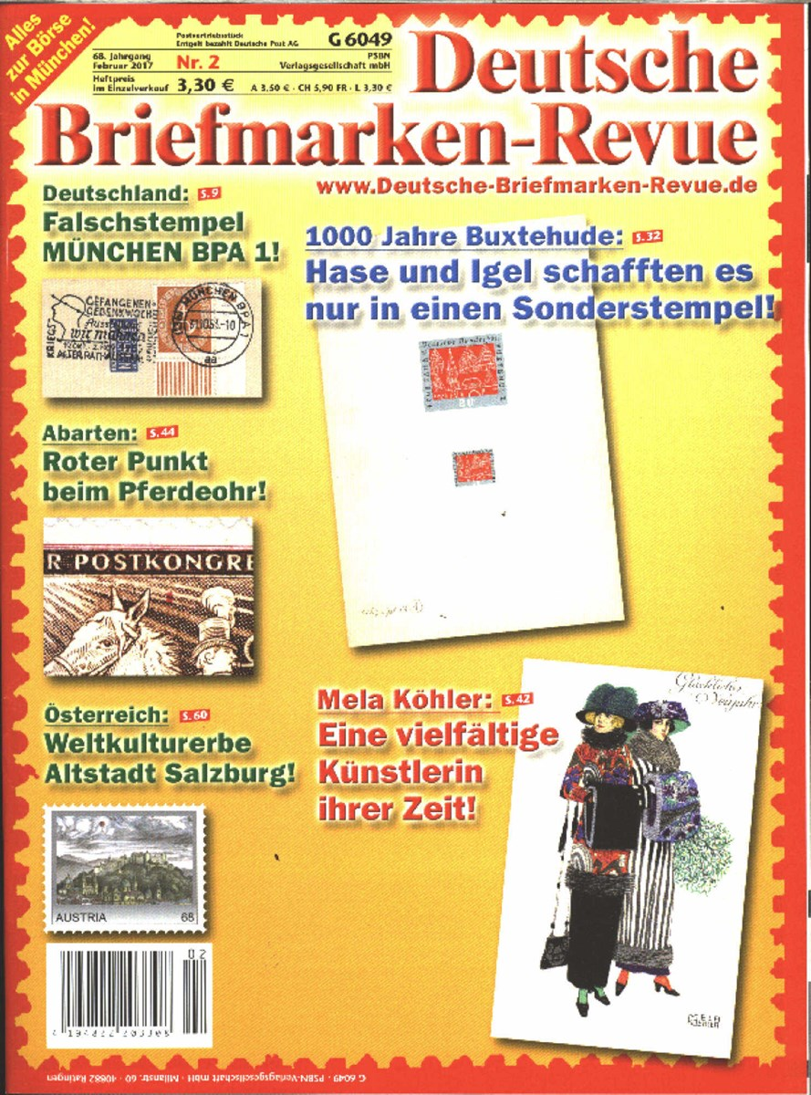 Deutsche Briefmarken Revue 22017 Zeitungen Und Zeitschriften Online