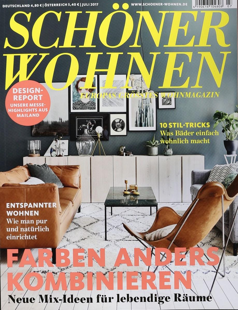 sch ner wohnen 7 2017 zeitungen und zeitschriften online. Black Bedroom Furniture Sets. Home Design Ideas
