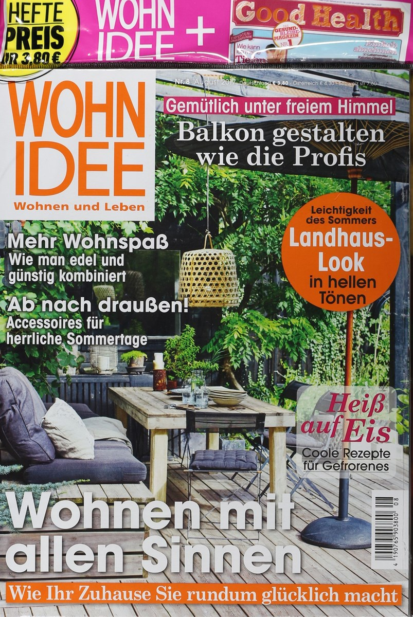 wohnidee 8 2017 zeitungen und zeitschriften online. Black Bedroom Furniture Sets. Home Design Ideas