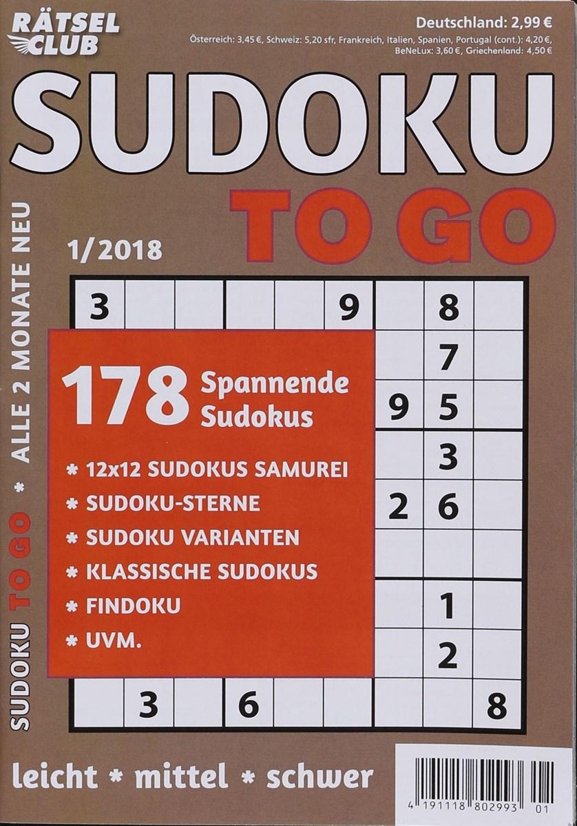 RÄTSELCLUB SUDOKU TO GO 1/2018 - Zeitungen und Zeitschriften online