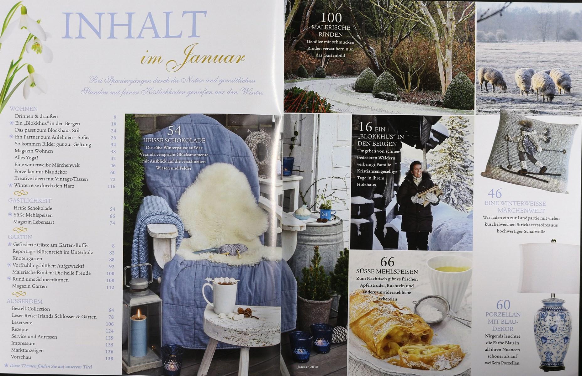 wohnen garten 1 2018 zeitungen und zeitschriften online. Black Bedroom Furniture Sets. Home Design Ideas