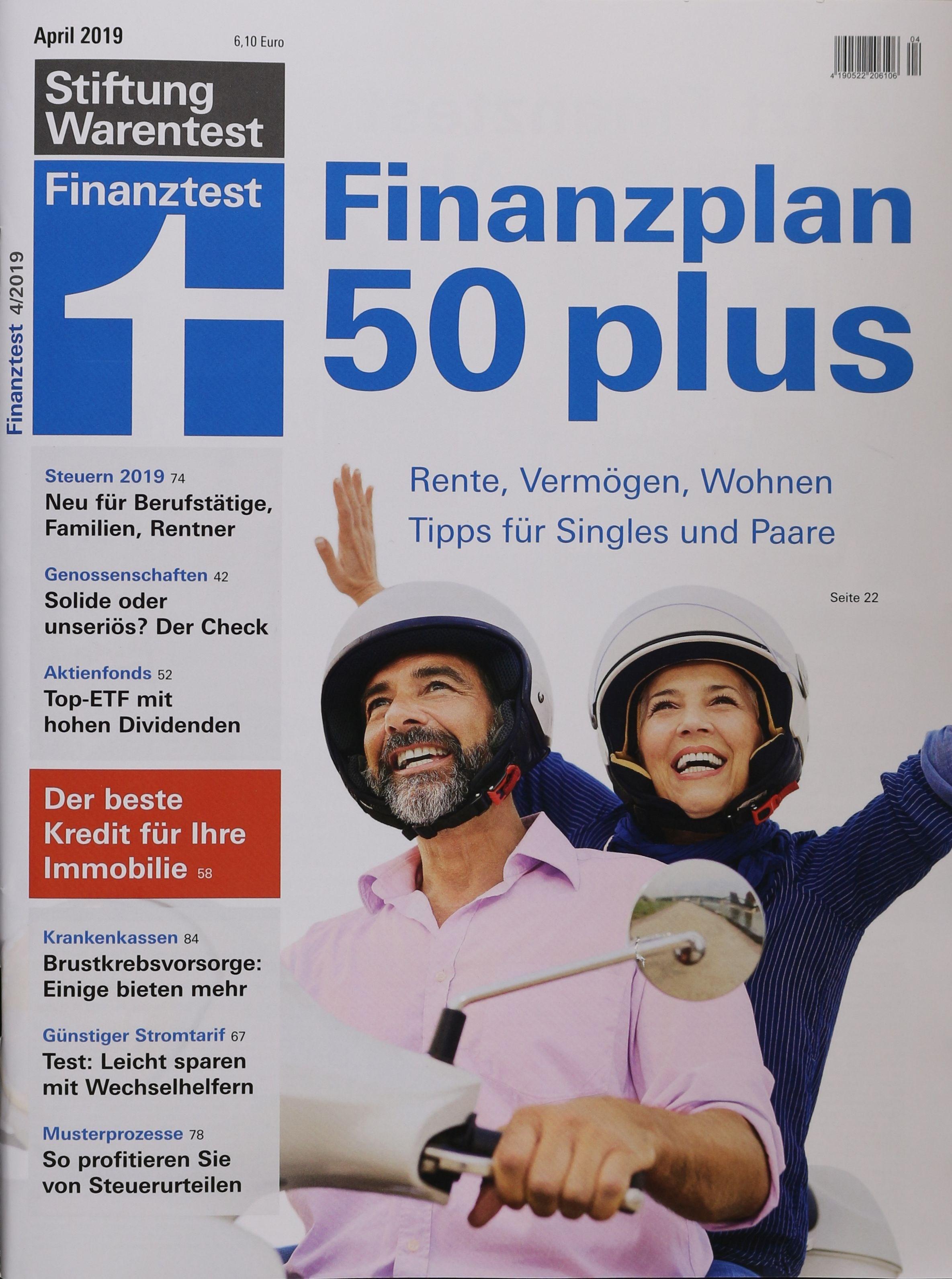 STIFTUNG WARENTEST FINANZTEST 4/2019 - Zeitungen und..