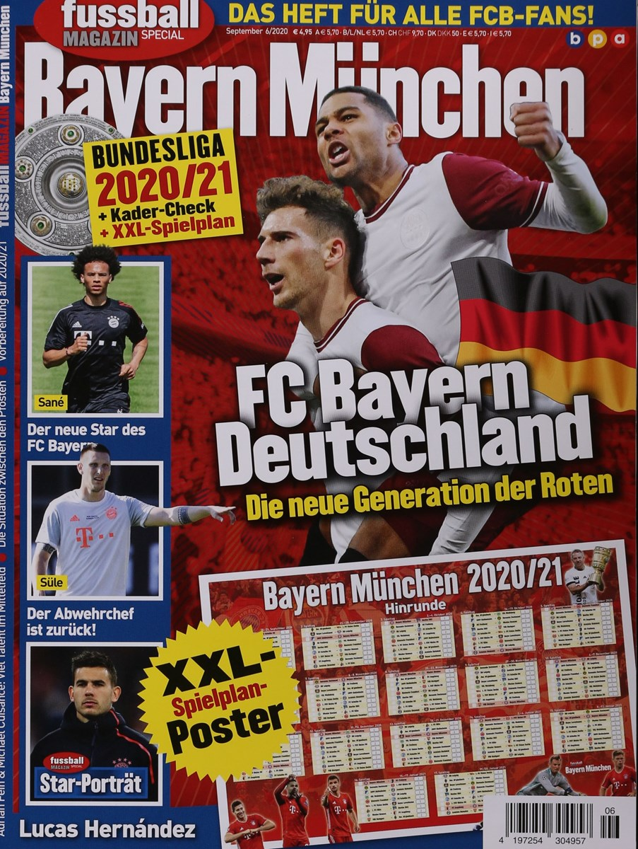 fussball magazin bayern mÜnchen 62020  zeitungen und